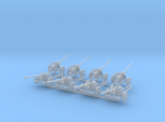 1/160 n-scale Pak40 anti tank gun set of 8
