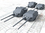 1/700 DKM 20.3cm/60 SK C/34 Guns with Bags 1941
