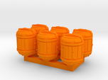 1/87 Scale Bio Medical Containers x6