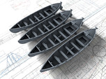 1/285 (6mm) Scale Royal Navy 27ft Whalers x4