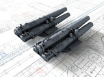 "1/350 V & W Class Destroyer Triple 21"" Tubes x2"