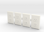 Electrical Outlet Faces; 1/6 Scale - Qty 4