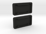 1/10 Scale License Plate Frames