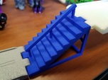 Titans Return Staircase with Center Railing