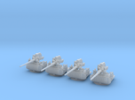 1/300 USN Single 5 inch (127 mm) 38cal gun set x4