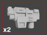 """""""HAMMER-7"""" Transformers Weapons (5mm post)"""