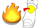 20x Dragon Legion Flame : Small Concave Insignias