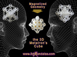 3D Metatron's Cube (add your own magnets)