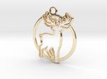 Deer & circle intertwined Pendant