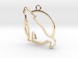 Wolf & circle intertwined Pendant