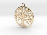 Tree of life and circle intertwined