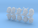 28mm space orc biker heads