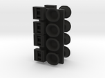 1/96 scale Cap and bollards in wall set
