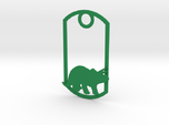 Triceratops dog tag