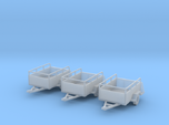 Open Trailers Old U-haul Style X3 HO 1/87