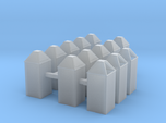 Square trash cans HO scale