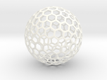 honeycomb sphere - 60 mm