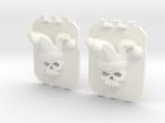 2 Large Tank Doors 3D Jester Skull
