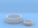1/8 Front Wire Wheel (rim/hub) for 1/8 Revell Deuc