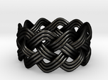 Turk's Head Knot Ring 4 Part X 10 Bight - Size 10