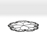 Fractal Tree Mat with the golden ratio proportions