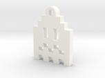 Pac Man Ghost 8-bit Earring 1 (afraid | moving)