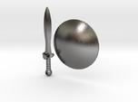 Real Metal Shield & Sword for ModiBot