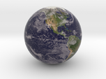 "Cloudy Earth Marble 1"" Diameter"