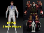 Spike homage Space Man 2inch Transformers Mini-fig