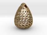 Big Patterned Egg Pendant - Metallic Material