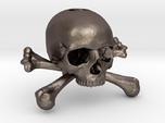 35mm 1.4in Keychain Skull & Bones Bead