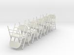 1:24 Folding Chairs, Set of 10