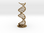 DNA double helix schematic with stand (metal)