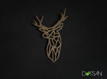 Stag Trophy Head Pendant Broach