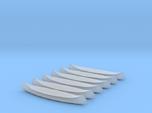 6 N-scale Canoes