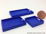 3 Piece Tray Collection 1:12 Scale