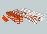15mm Traffic Cones and Barriers