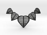 Leafy heart pendant / Necklace