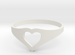 Negative Space Heart Ring (Sz 6)