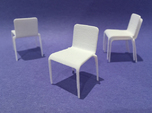 Plastic Stacking Chair 1:24 scale