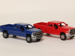 1:160 N Scale Chevy & Dodge Crew Cab Pickup Trucks