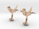 Origami Crane Cufflinks