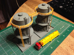 Double Storage Tanks Z Scale