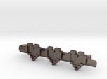 Legend of Zelda: Pixel Heart Tie Clip (skinny tie)