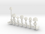 HO Scale lamp assortment