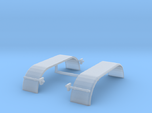 1/87th HO Truck Tandem Fenders Smooth Rounded