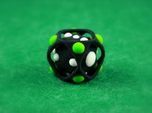 Dice No.2-c Green S (balanced) (2.4cm/0.94in)