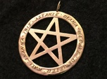 Pentacle pendant - Goddess chant