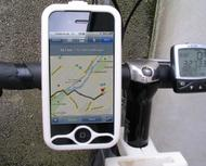 iPhone 4 bike mount assembly 1 1/4