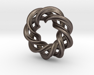 3 strand right hand mobius spiral charm bead